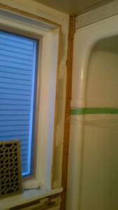 Bathroom reno   ceramic tile  wall  installing issues (3)
