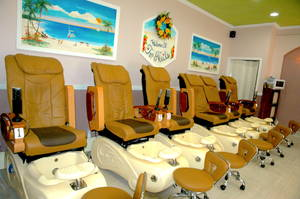 Pedicure stations