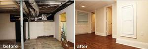 Basement system before after 01