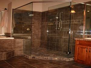 Custom bathroom shower tile design