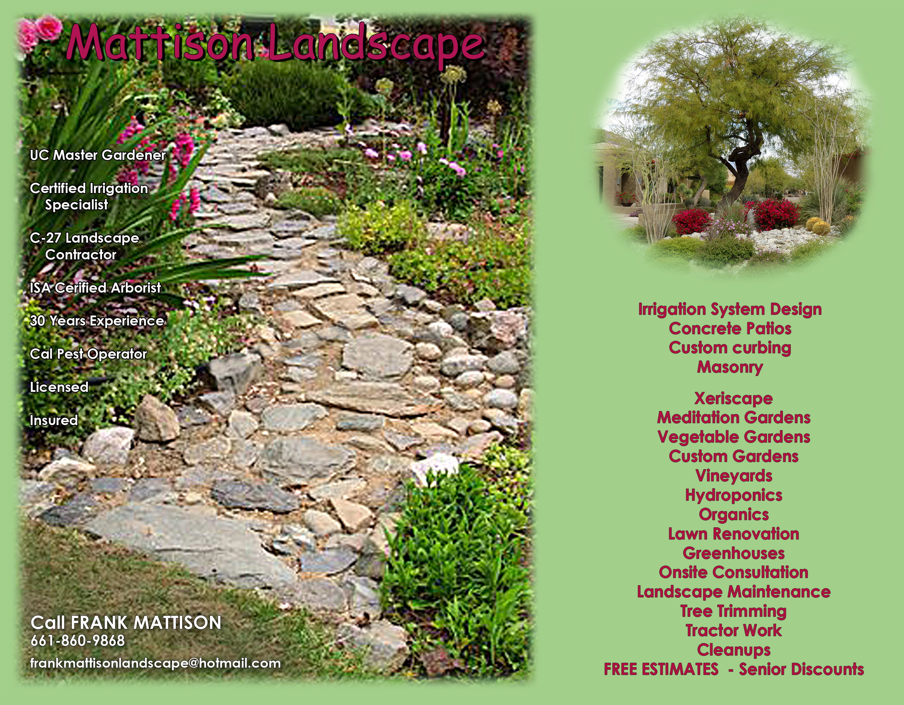 landscaping services in lancaster ca frank mattison landscape