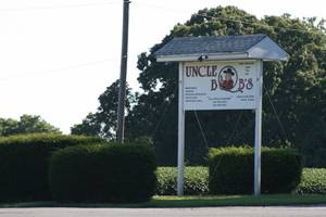 Uncle bobs entrance sign