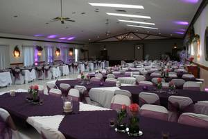 Banquet hall wedding entering view