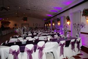 Banquet hall wedding right side view