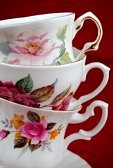 33274418-antique-cup-and-saucer-with-flowers-and-a-golden-line