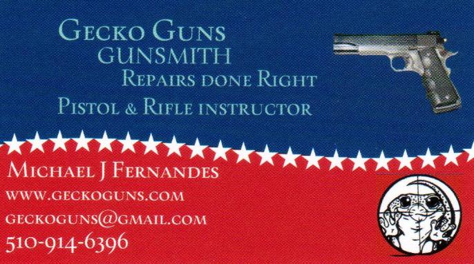 Custom Gun Work in Pinole, CA | (510) 914-6396 Gecko Guns Gunsmith