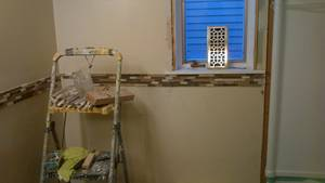 Bathroom reno   ceramic tile  wall  installing issues (2)