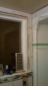 Bathroom reno   ceramic tile  wall  installing issues (9)