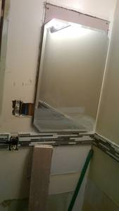 Bathroom reno   ceramic tile  wall  installing issues (16)