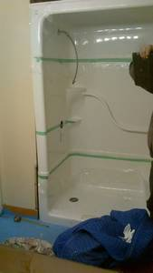 Bathroom reno   shower cap installation (3)