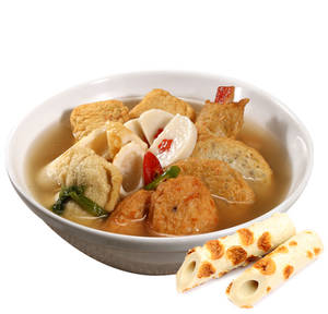 Assorted fish cake soup