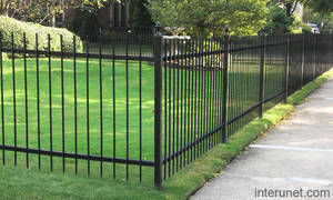Powder coated aluminum fence