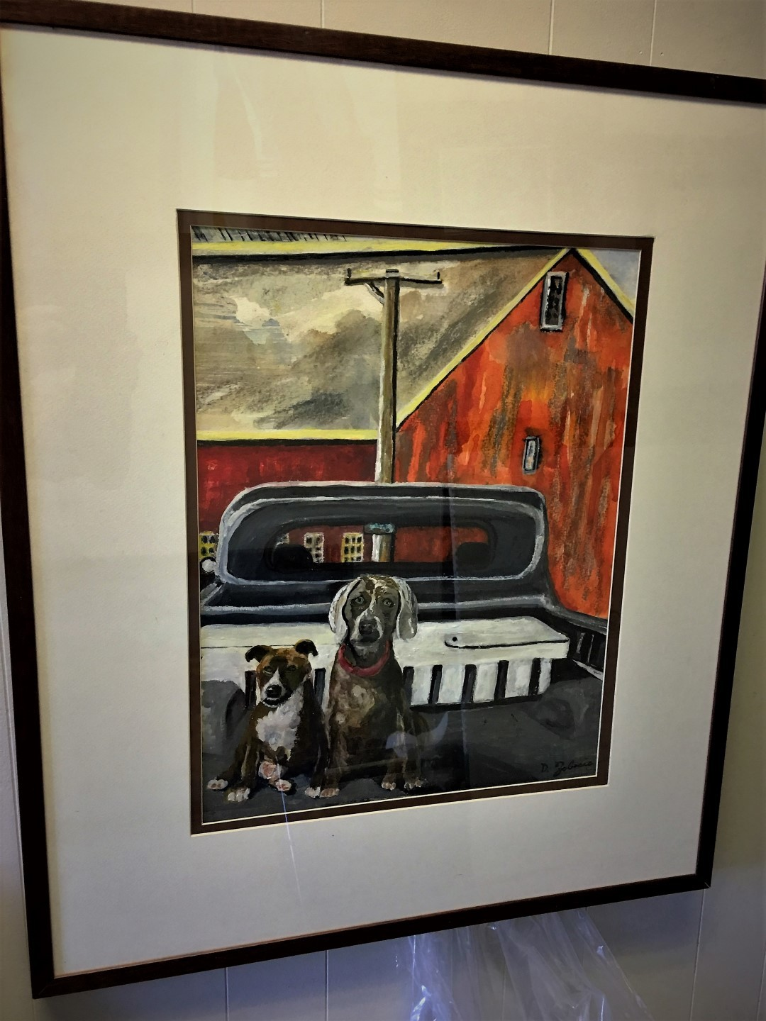 Maddy_and_Sam_on_Farm_Framed__Watercolor_Painting