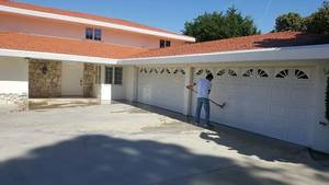 Garage door washing