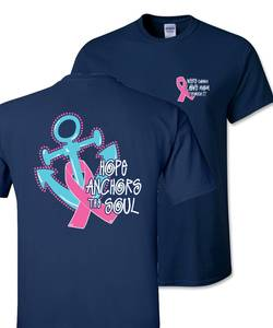 Breast cancer tshirt proof navy