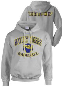 Hatley tigers baseball sweatshirt proof w. yellow