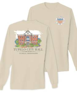 Tupelo city hall tshirt proof ivory