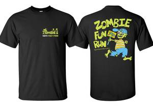 Zombie fun run tshirt proof