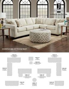 J furniture 1250 sectional tearsheetj