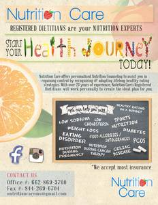 Nutrition care flyer
