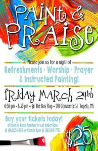 Paint and praise flyer