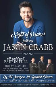West jackson night of praise poster