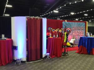 Super hero event photo booth