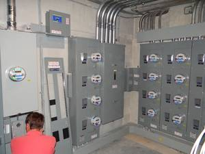 Condo electrical service retrofit
