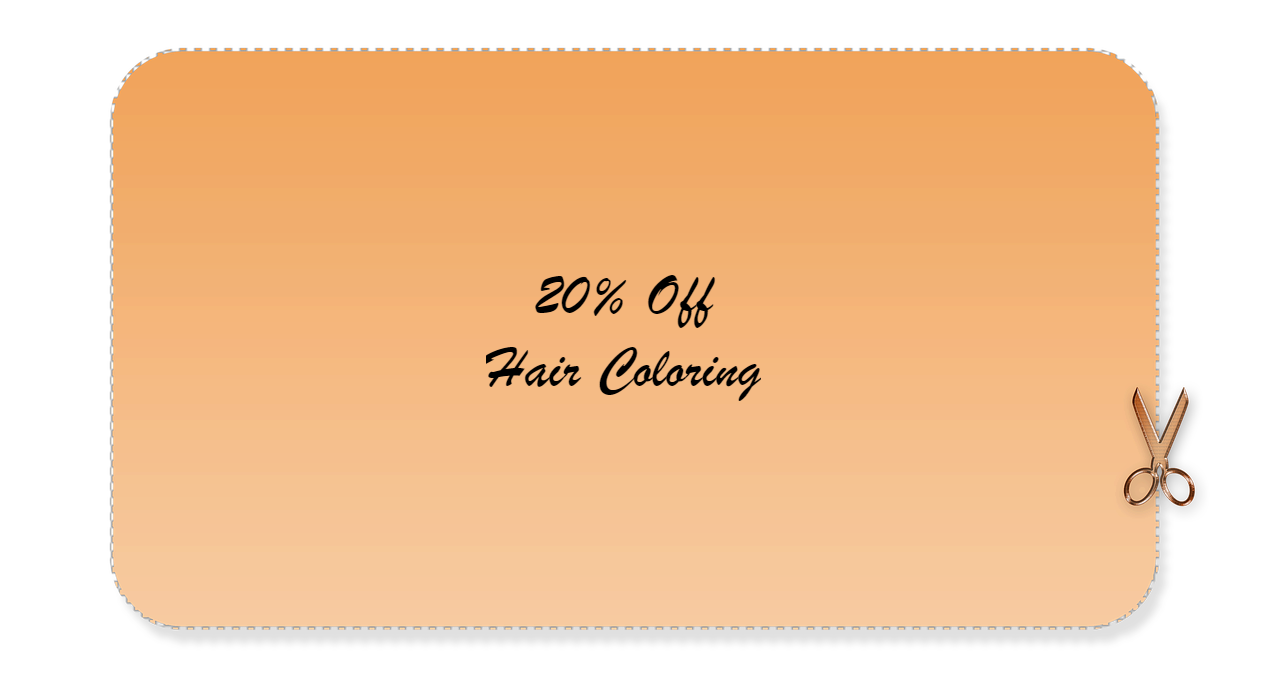 Hair Coloring 20% Off