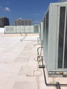 Rooftops  with frequency drives and building automation