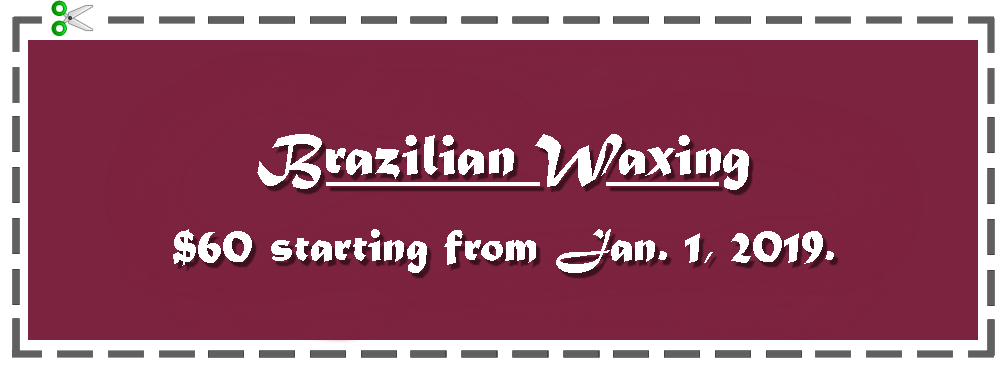 Brazilian Wax promotion
