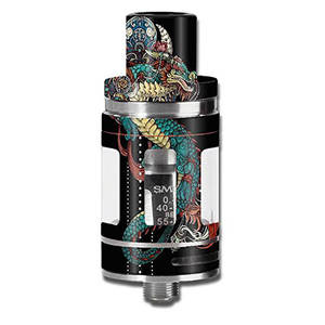 Vape mod skin decal vinyl wrap for smok micro tfv8 baby beast tank vape mod stickers skins cover dragon japanese style tattoo