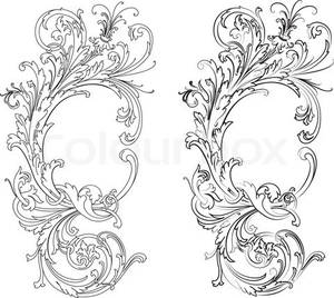 2301407 616980 baroque design element traditional style all curves separatelyfiligreelg