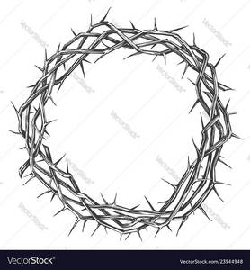 Crown of thorns easter religious symbol of vector 23944948