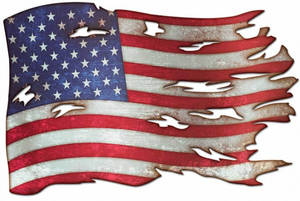 Ps940 tattered american flag plasma 24x16  55410.1523476008