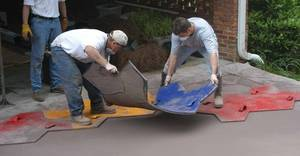 How to stamp concrete decorative concrete institute 57936