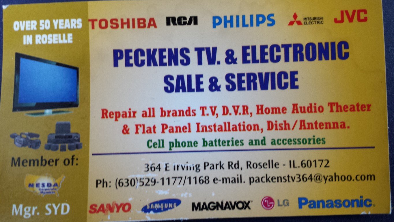 Peckens TV Repair Company Reviews & Testimonials